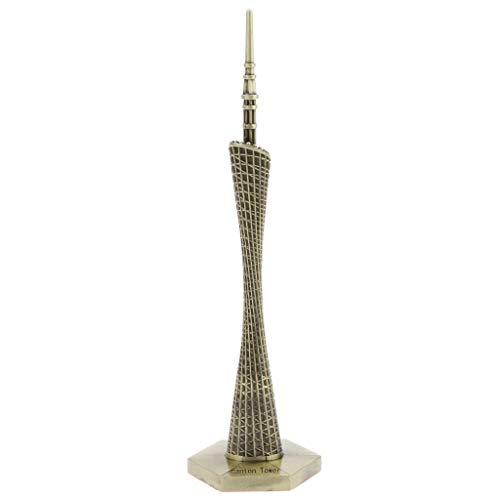 Homyl Vintage China Guangzhou Canton Tower Estatua Moderna De Bronce De Metal Modelo Replica Edificio Figuritas Home Decor...