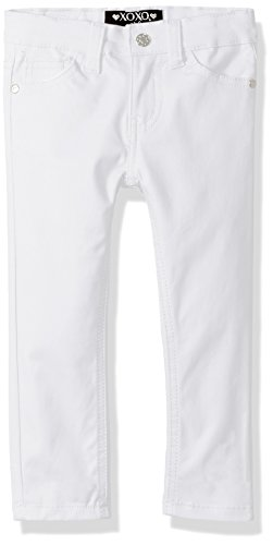 XOXO Girls' Little Stretch Twill Skinny Pant, White, ()