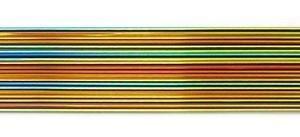 Dichoric Glass - Cbs Rainbow Dichroic On Black 1mm Stringers - 96 Coe