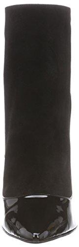Buffalo London 12206-314 SUEDE PATENT PU - botas de material sintético mujer negro - negro (negro 01)