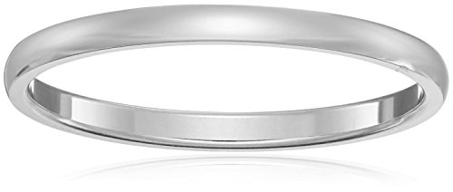Classic Fit Platinum Plain Wedding Band, 2mm