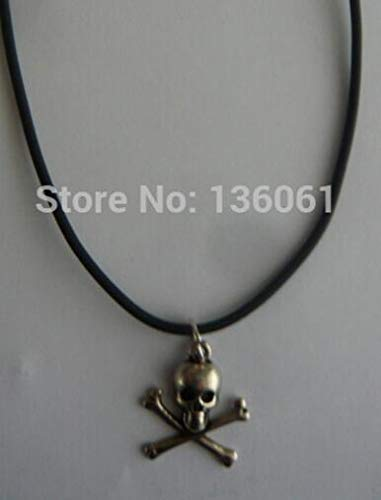 Crossbone Choker - Vintage Silver Fleur De Lily Skull Buddha Sword Queen Head Key Buddhism Necklace Pendant Leather Choker Women Q186