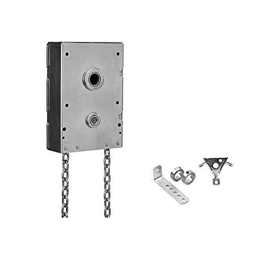 Garage Door Chain Hoist 4.5:1 Gear Reduction Jack Shaft Mounted (1.25 Inch Shaft