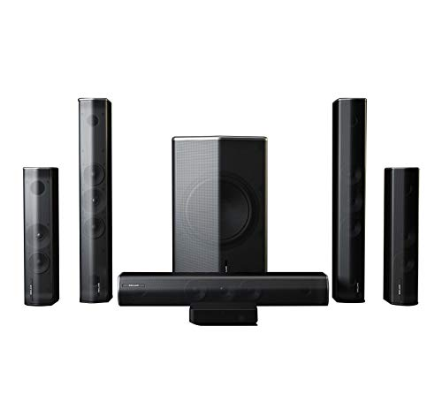 Enclave CineHome Pro 5.1 Wireless Home Theater Surround Sound – CineHub Edition Bundle | THX Certified | 24 Bit Dolby Digital & DTS | WiSA Certified