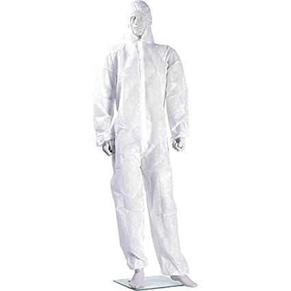Nitras polysafe Basic Traje de protección II – Mono de clase 3 – desechables de traje para hombre y mujer – tamaño M hasta 3 xl, Blanco, 1020609-2XL