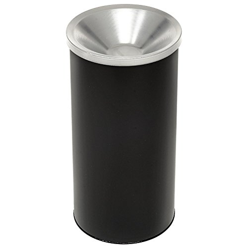 Fiberglass Smoking Urn - Ash N'Trash Ash Urn with Trash Receptacle in Black Finish with Aluminum Top