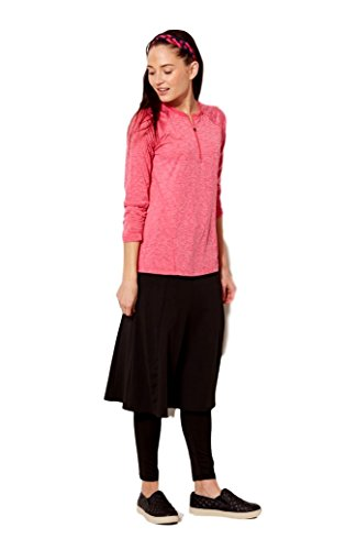 Modesty Athleisure Snoga Long Twirly Skirt w/Attached Leggings