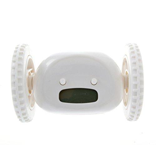 Umiin Runaway Alarm Clock on Wheels for Kids,Children,Student,Heavy Sleepers(White)