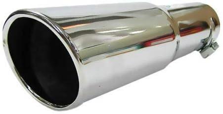 Autohobby 568 Auspuffblende Auspuff Universell Schalldampf Endrohr Endrohrblende Blende Sport Edelstahl bis 57mm /Ø Chrom