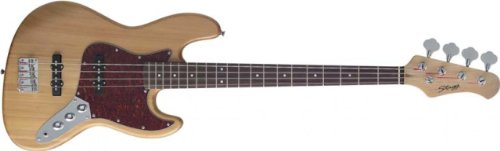 Stagg B300-NS Standard J Electric Bass Guitar - Natural (Electric Bass Natural Guitar)