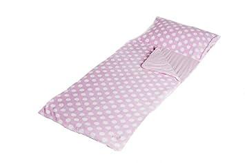 Snuggle Sac Saco de dormir infantil, color rosa y blanco: Amazon.es: Juguetes y juegos