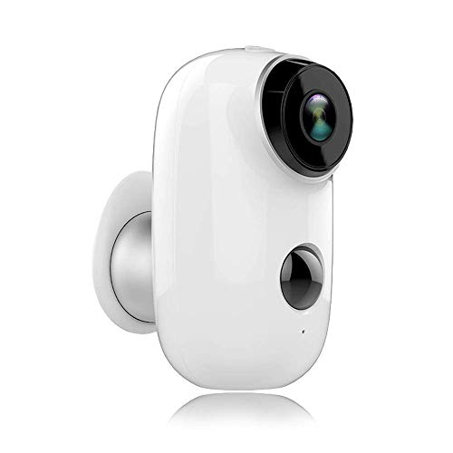 2019 Upgraded Rechargeable Battery-Powered Camera Indoor/Outdoor Wireless Security Camera 720p HD Wire-Free 2-Way Audio Night Vision Alarm Alert & PIR Motion Sensor w/Built-in SD Slot (Wireless Outdoor Motion Sensor With Indoor Alert)