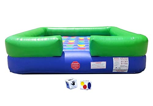Pogo Bounce House Twister Crossover 13-Foot by 13-Foot Inflatable Interactive Game with Blower and Stakes