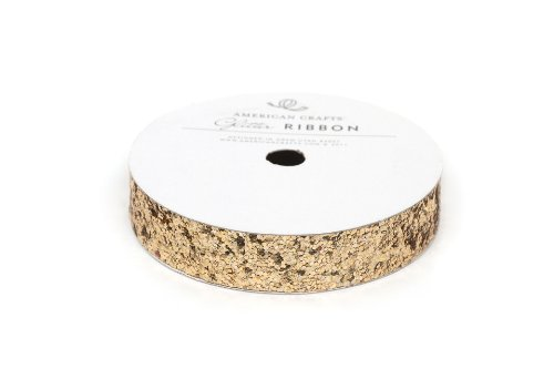 - Ribbon Large Glitter Solid Gold 5/8