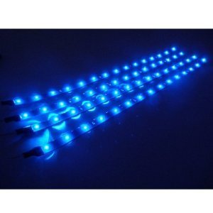 4 Pcs 30cm Car Truck Flexible Waterproof LED Light Strip Blue
