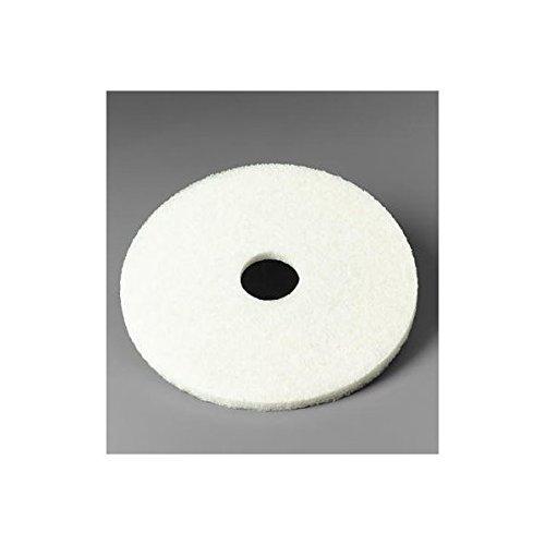 3M 4100 23 in White Super Polish Pads 175 to 600 RPM 61-5000-4514-3 Pads per Box 5 500-48011-08487-4