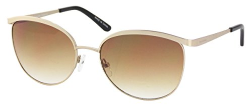 Elizabeth Arden Sunglasses for Women Gold Metal Browline Sunglasses 5230-1 ()