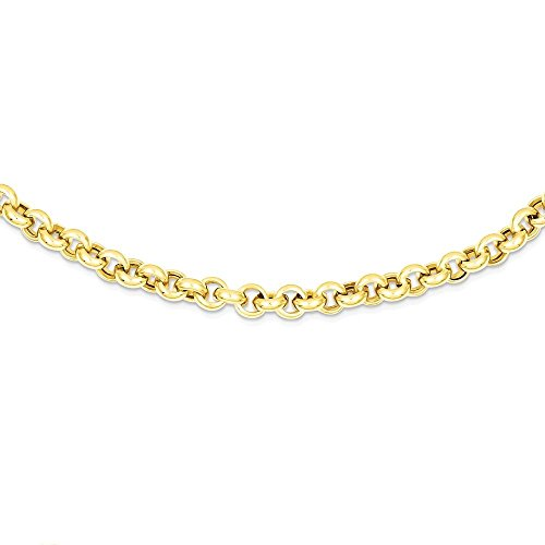 ICE CARATS 14k Yellow Gold 8.5 Inch 5mm Rolo Link Bracelet 8.50 Fancy Fine Jewelry Gift Valentine Day Set For Women Heart (5mm Rolo Link)