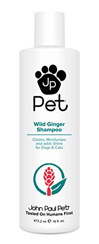 John Paul Pet Wild Ginger Shampoo for Dogs and Cats, Soothes and Cleanses Adding Moisture and Shine, 16-Ounce (John Paul Pet Shampoo)