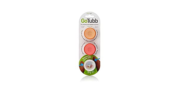 humangear Gotubb Clear//Orange//red 3-Pack Small 0.4oz