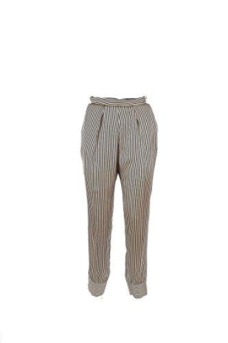 Pantalone Donna Elisabetta Franchi 44 Nero/miele Pa9254166 Autunno Inverno 2016/17