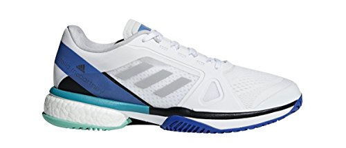 adidas aSMC Barricade Boost Shoe - Women s Tennis 6.5 White Stone Ray Blue fcf8982ba