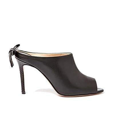 Giancarlo Vitello Open Stile Colore Nero Sandalo Con Sabot In Toe MSVUzp