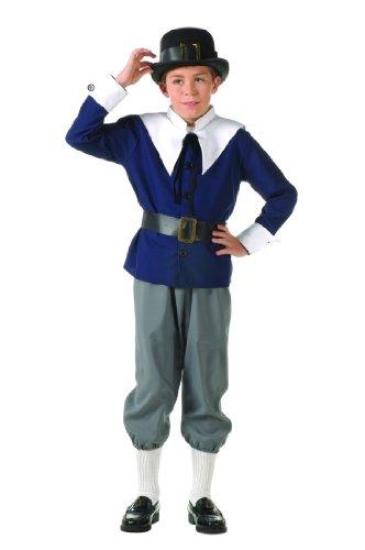 Child's Deluxe Pilgrim Boy Costume Size Medium (8-10)