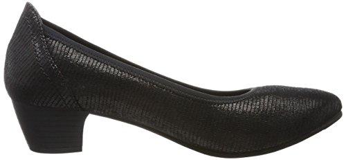Softline 22361, Zapatos de Tacón para Mujer Negro (Black Snake)