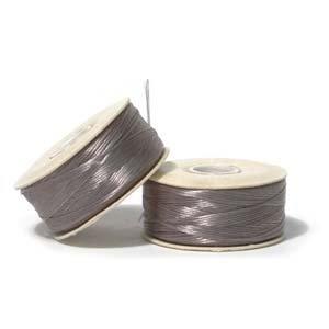 Beading Thread Nymo (Nymo Nylon Beading Thread Size D for Delica Beads, 64 yd/58m, Grey)