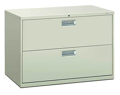 - HON 692LQ 600 Series 42-Inch by 19-1/4-Inch 2-Drawer Lateral File, Light Gray