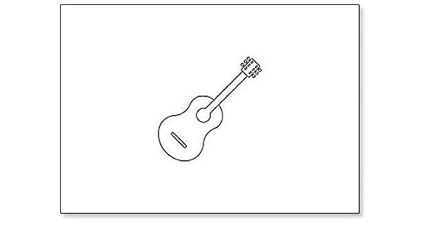 Imán para nevera con diseño de icono de guitarra: Amazon.es: Hogar