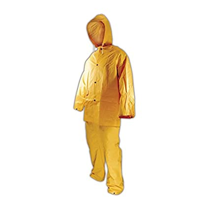Hood and Pants Magid Glove /& Safety 200-3-S Magid Rain Master PVC 3-Piece Rain Suit with Jacket Small Yellow
