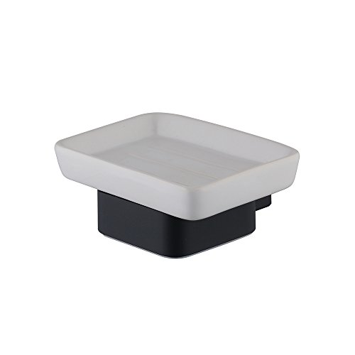 - Hiendure Ceramic Soap Dish Wall Mounted, Black Painting