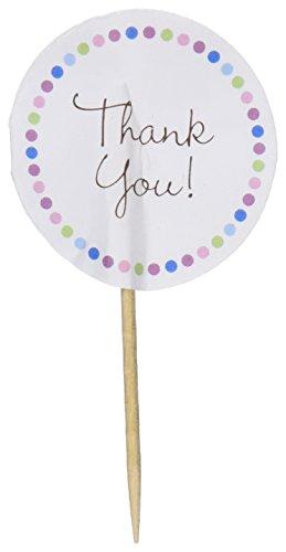Wilton 2113-0856 Cupcake Picks, Thank You, 24-Pack