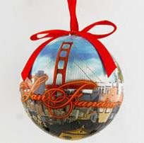 Amazon.com: CM San Francisco Christmas Ornament Photo Collage With ...
