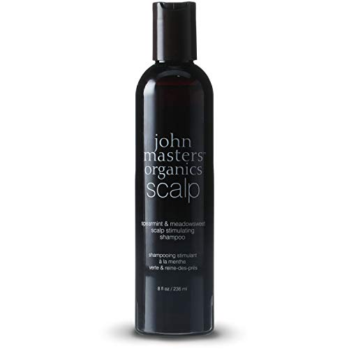 John Masters Organics - Spearmint & Meadowsweet Scalp Stimulating Shampoo - Volumizing & Moisturizing Formula Infused with Essential Oils & Proteins for Dry Scalp - Safe for Color Treated Hair (John Masters Organics Shampoo)