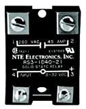 NTE Electronics RS3-1A40-22 Series R3 Solid State AC and DC Power Relay, SPST-NO Contact Arrangement, Back to Back Dual SCRs, 90-280 VAC Input, 48-240 VAC Output, 40 Amp