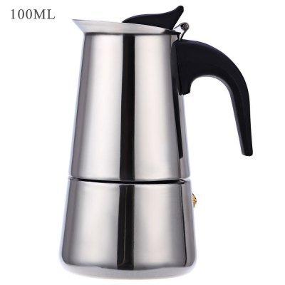 Griddle Top Single Oven Range - 6 Cups 100ML Stainless Steel Mocha Espresso Latte Percolator Stove Coffee Maker Pot