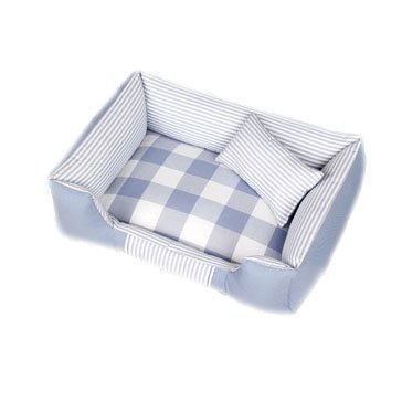bluee Small bluee Small Dog Bed Dog Mat Cat Bed Pet Nest Breathable Cool Washable Soft Large Medium and Small Dog Four Seasons Indoor Mat Canvas,bluee,S