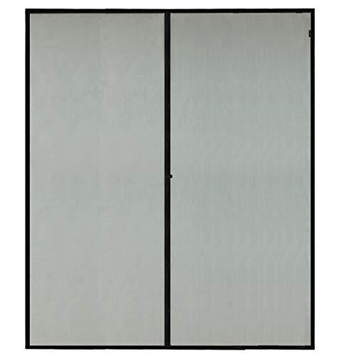 - Magnetic Screen Door 72x80, Mesh French Screen Fiber Heavy Duty Large Double Door Insect Screen Mesh Fit Your Door Size 70W X 79H Inch with Full Frame Hook&Loop Front Door Screen(72 X 80 Inch, Gray)