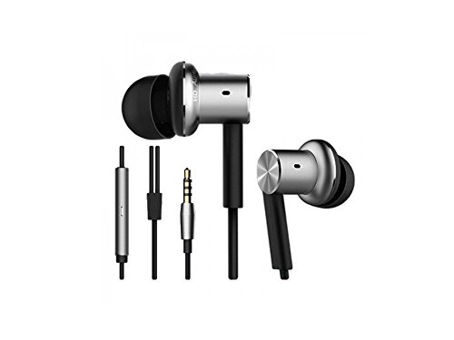 Xiaomi Mi ZBW4326TY Piston In-Ear Headphones Pro Dynamic + Balanced Armature Hybrid Drivers with Remote and Mic, Silver