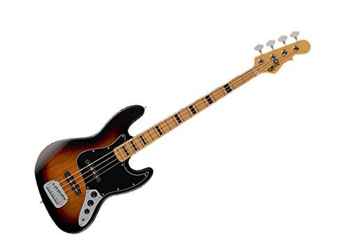 G&L Tribute Series JB Bass Guitar - 3-Tone Sunburst/Maple - TI-JB-123R20M23