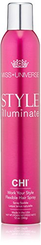- MISS UNIVERSE Style Illuminate by CHI Work Your Style Flexible Hair Spray, 12 oz.