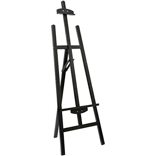 Marble Field Adjustable Wooden Tripod Easel Display Floor Easel Sketch Painting Portable, Black