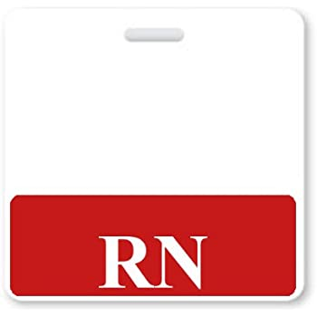 Amazon rn horizontal badge buddy with blue border by rn horizontal badge buddy with red border by specialist id packaged sold individually sciox Choice Image