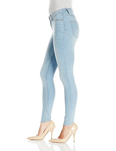 Cheap Monday Mid Spray Stone Bleach - Vaqueros Mujer Azul