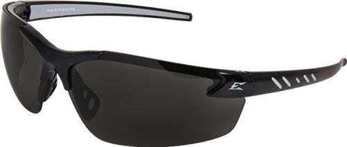 Gloss Black Nylon Frame (Edge Safety Glasses Zorge Magnifier Smoke Lens Black Frame Black)