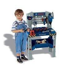 - Theo Klein Bosch Adjustable Height Toy Workbench with Sound