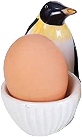 Large egg cup set ceramic kitchen children family ensemble group farm animals 6 pieces